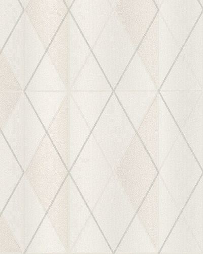 Non-Woven Wallpaper Checked cream silver Glitter 6720-20 online kaufen
