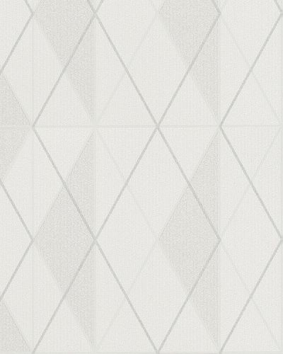 Non-Woven Wallpaper Checked cream silver Glitter 6720-30 online kaufen