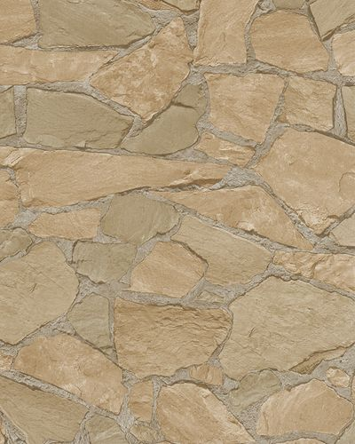 Non-Woven Wallpaper 3D Natural Stone beige taupe 6422-40
