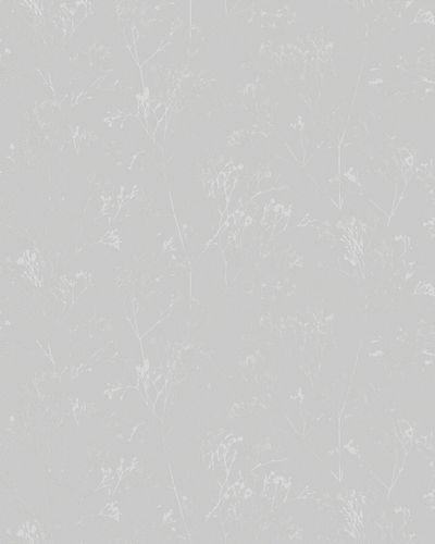 Non-Woven Wallpaper Floral Herbs grey Gloss 6740-20 online kaufen