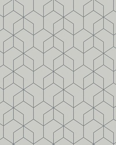 Non-Woven Wallpaper Hexagon grey silver Gloss 6743-10 online kaufen