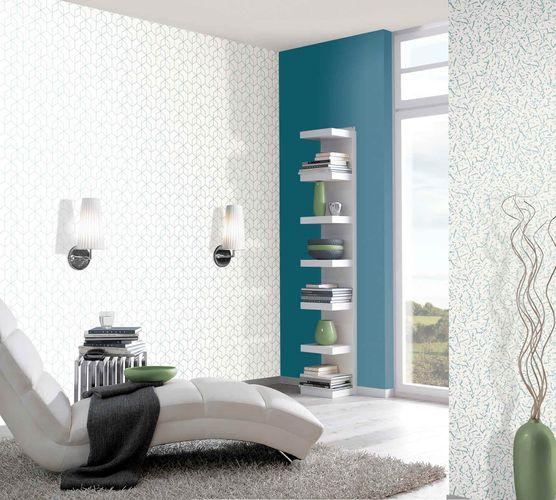 Non-Woven Wallpaper Cracks white blue Gloss 6744-30 online kaufen