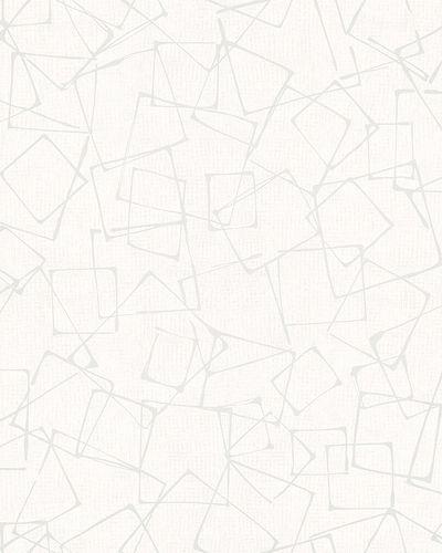 Non-Woven Wallpaper Rectangles white silver Gloss 6745-40