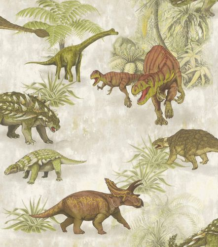 Kid's Wallpaper Dinosaur Forest green grey Rasch 212808 online kaufen
