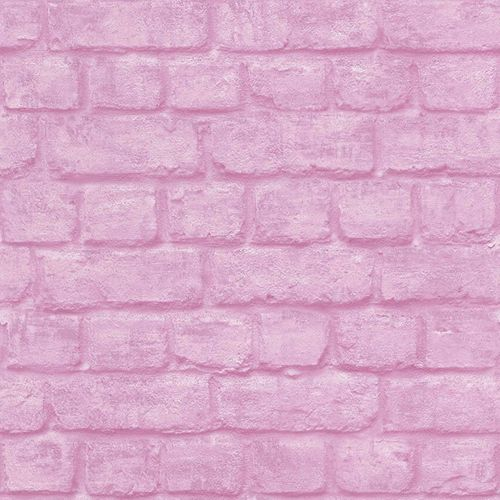 Teen's Wallpaper Stone Wall Brick pink Rasch 226805