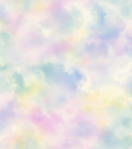 Kid's Wallpaper Cloudy Sky pastel Glitter Rasch 818017