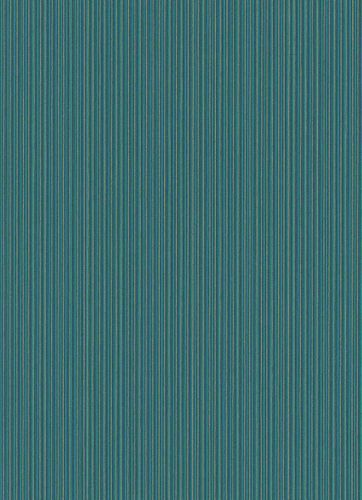Non-Woven Wallpaper Stripes turquoise Metallic 10026-36 online kaufen
