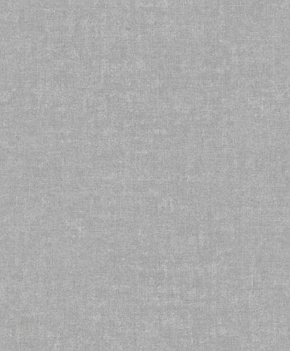 Vinyl Wallpaper Textile Plain grey white GranDeco IW1004 online kaufen