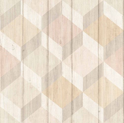 Vinyl Wallpaper Wood Graphic 3D brown GranDeco IW2001 online kaufen