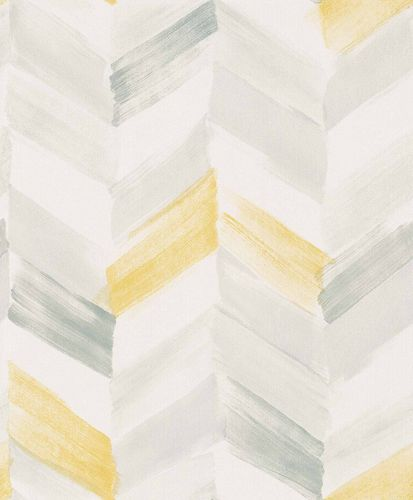 Vinyl Wallpaper Herringbone Pattern white grey IW2102