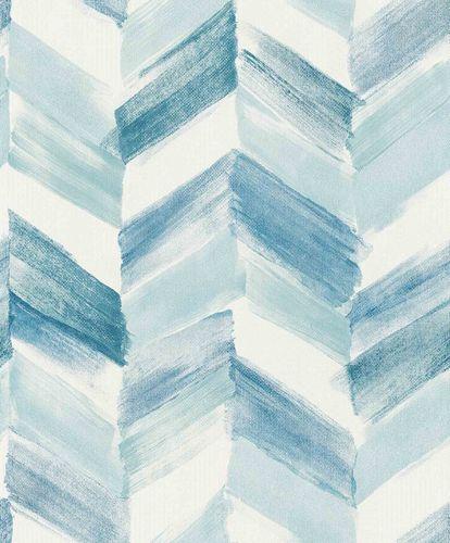 Vinyl Wallpaper Herringbone Pattern white blue IW2103 online kaufen