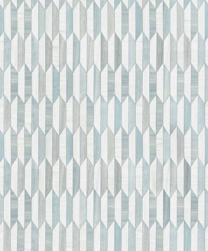 Vinyl Wallpaper Graphic Wood Retro blue white IW3302 online kaufen