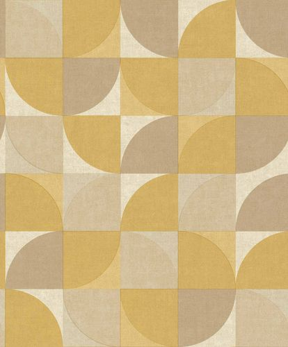 Vinyl Wallpaper Retro yellow brown GranDeco IW3403 online kaufen