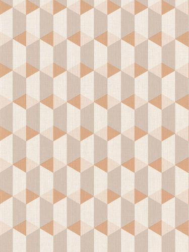 Vinyl Wallpaper Graphic 3D orange white GranDeco IW3504 online kaufen