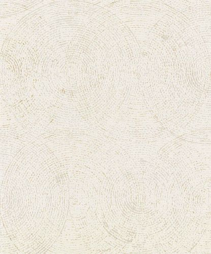 Non-Woven Wallpaper Circles white brown Gloss IW3601 online kaufen