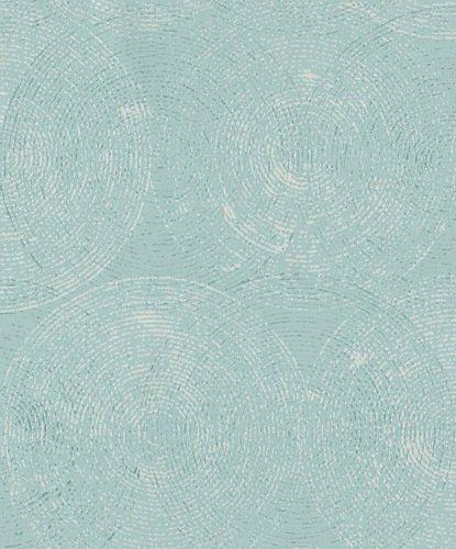 Non-Woven Wallpaper Circles light blue Gloss IW3604 online kaufen