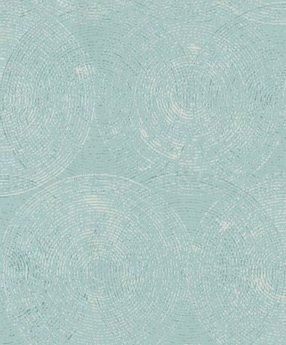 Vliestapete Kreise hellblau Glanz GranDeco IW3604
