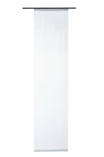 Panel Curtain transparent plain lines white 5405-25 online kaufen