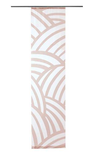 Panel Curtain transparent stripes rosé 5406-17 online kaufen