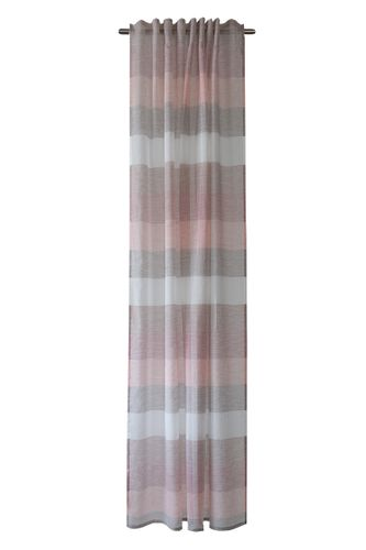 Loop Curtain semi-transparent stripes rosé 5099-04 online kaufen