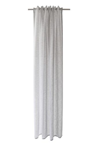 Loop Curtain transparent plain structure grey 5401-29 online kaufen
