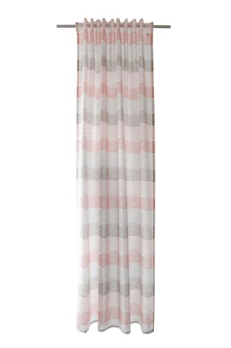 Loop Curtain semi-transparent stripes rosé 5396-28 online kaufen