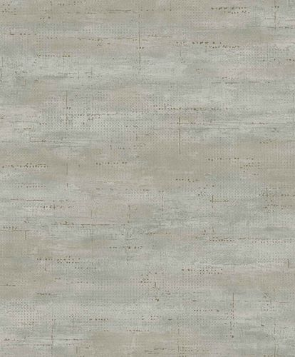 Vinyl Wallpaper Metal Look grey green gold PP1001