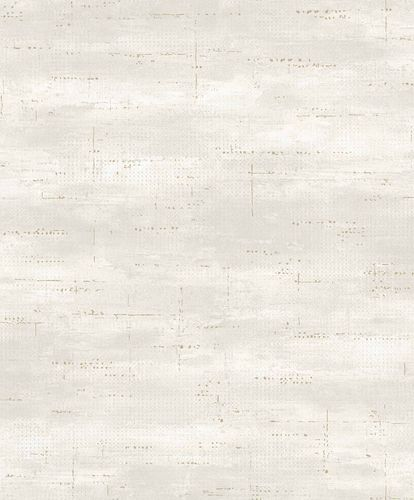 Vinyl Wallpaper Metal Look grey gold GranDeco PP1002 online kaufen