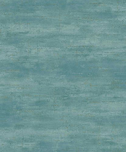 Vinyl Wallpaper Metal Look blue gold GranDeco PP1003