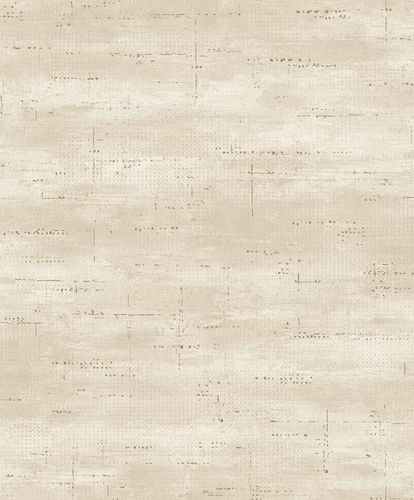 Vinyl Wallpaper Metal Look beige gold GranDeco PP1004