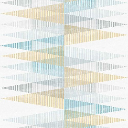 Vinyl Wallpaper Triangles Textile white blue PP3302