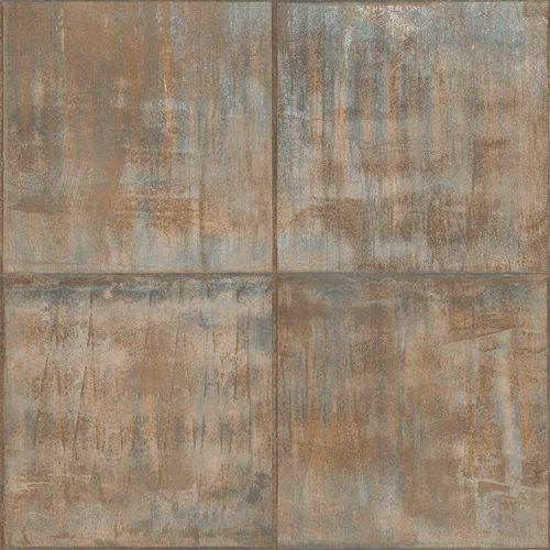 Vinyl Wallpaper Patina Tiles brown bronze Metallic PP3401