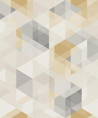 Vinyltapete Geometrisch 3D weiß gelb GranDeco PP3503 online kaufen