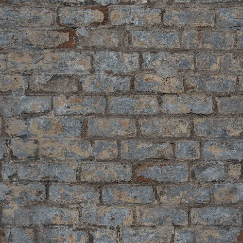 Vinyl Wallpaper Stone Wall Vintage blue grey PP3801