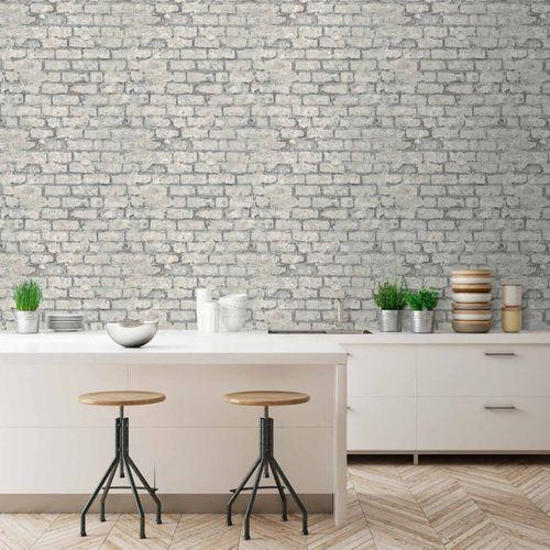 Vinyltapete Steinmauer Vintage grau GranDeco PP3803 online kaufen
