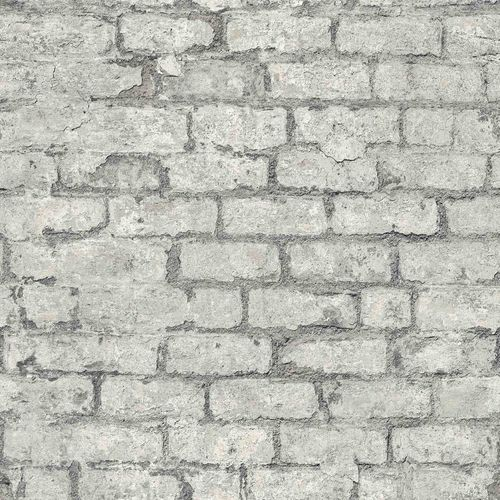 Vinyl Wallpaper Stone Wall Vintage grey GranDeco PP3803