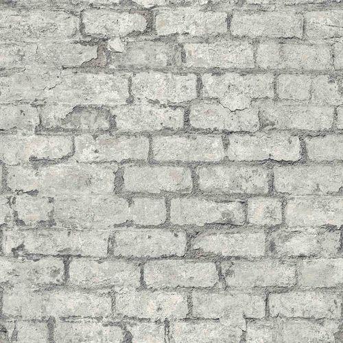 Vinyl Wallpaper Stone Wall Vintage grey GranDeco PP3803 online kaufen