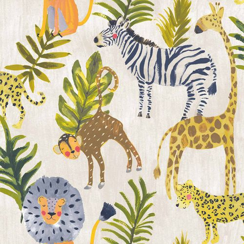 Kids Vinyl Wallpaper Animals Africa colourful LO2201