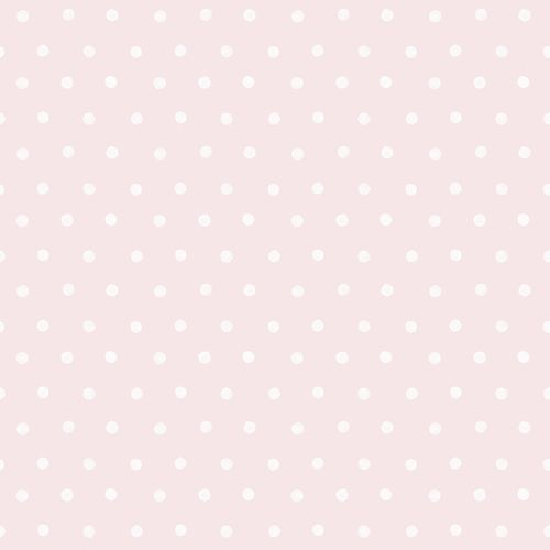 Kids Vinyl Wallpaper Dots Watercolour pink white LO2602