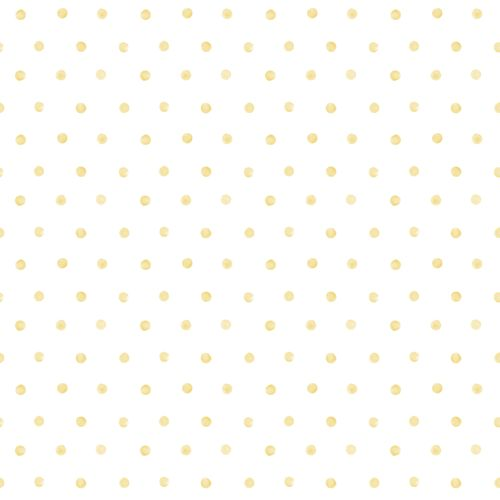 Kids Vinyl Wallpaper Dots Watercolour white yellow LO2604