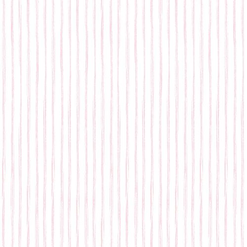 Kids Vinyl Wallpaper Stripes white pink LO3002
