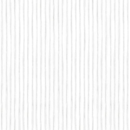 Kids Vinyl Wallpaper Stripes white grey LO3003