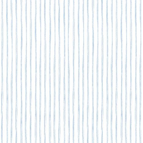 Kids Vinyl Wallpaper Stripes white blue LO3004