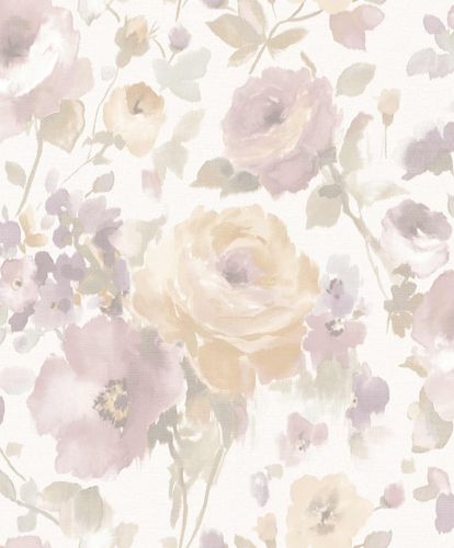 Vinyl Wallpaper Flowers Watercolour white pink SN3006 online kaufen