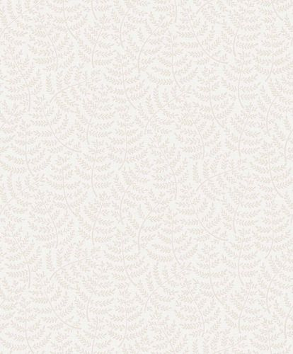Vinyl Wallpaper Little Leaves grey white taupe SN3101