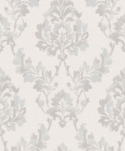 Vinyl Wallpaper Damast Ornament grey GranDeco SN3209 online kaufen