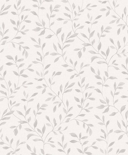 Vinyl Wallpaper Leaves Branches grey white blue SN3309 online kaufen