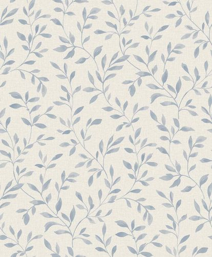 Vinyl Wallpaper Leaves Branches grey white Sarafina SN3311