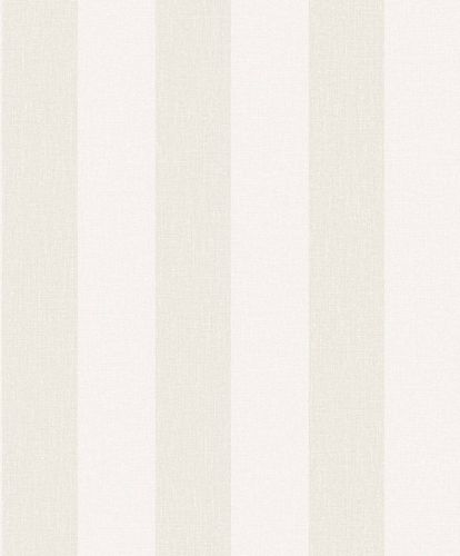 Vinyl Wallpaper Block Stripes white grey taupe SN4001