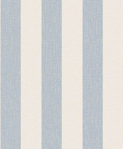 Vinyl Wallpaper Block Stripes grey white blue SN4011